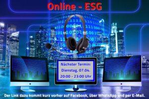 Online- Ferien- ESG, die Dritte.